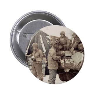 Red Ball Express Supply Convoy Pinback Button