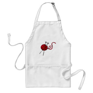 Red Ball of Yarn Adult Apron