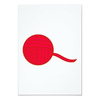 Red Ball of Yarn Card