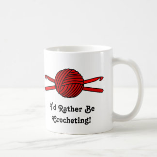 Red Ball of Yarn & Crochet Hooks Coffee Mug