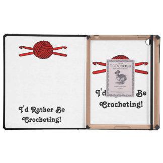Red Ball of Yarn & Crochet Hooks iPad Case