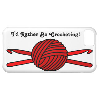 Red Ball of Yarn & Crochet Hooks iPhone 5C Cover