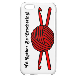 Red Ball of Yarn & Crochet Hooks iPhone 5C Covers