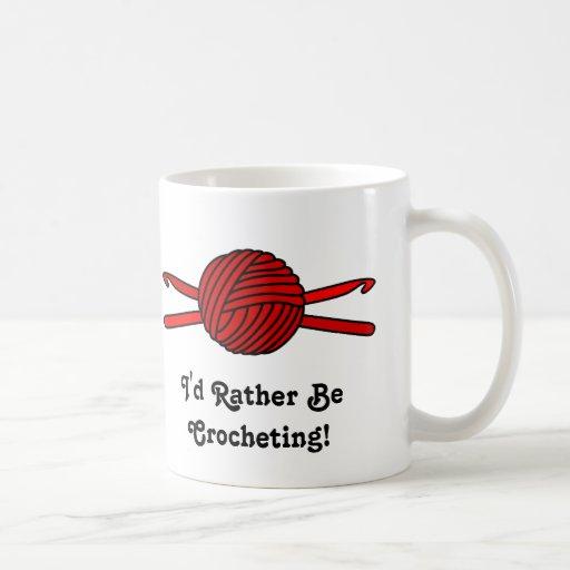 Red Ball of Yarn & Crochet Hooks Mug