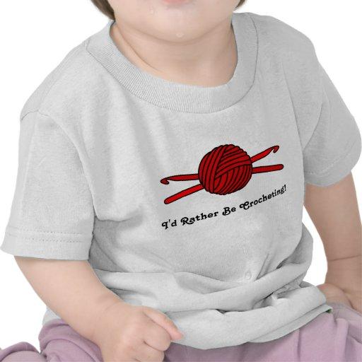 Red Ball of Yarn & Crochet Hooks Tee Shirts