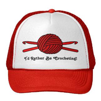 Red Ball of Yarn & Crochet Hooks Trucker Hat