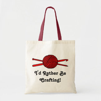 Red Ball of Yarn (Knit & Crochet) Tote Bags