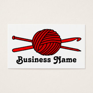 Red Ball of Yarn (Knit & Crochet) Business Card