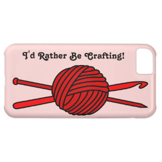 Red Ball of Yarn (Knit & Crochet) iPhone 5C Cover