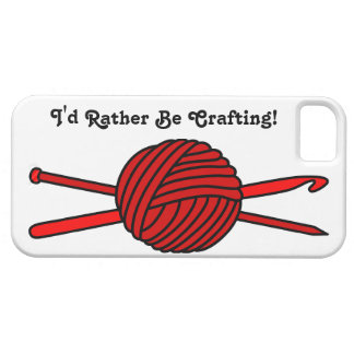 Red Ball of Yarn (Knit & Crochet) iPhone 5 Case