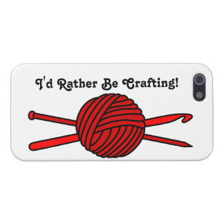 Red Ball of Yarn (Knit & Crochet) iPhone 5 Covers