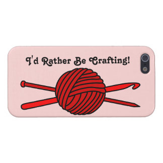 Red Ball of Yarn (Knit & Crochet) iPhone 5 Cases