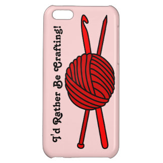 Red Ball of Yarn (Knit & Crochet) Cover For iPhone 5C