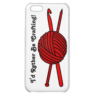 Red Ball of Yarn (Knit & Crochet) iPhone 5C Case