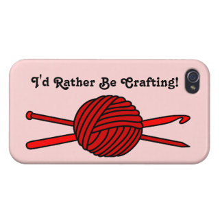 Red Ball of Yarn (Knit & Crochet) iPhone 4 Cases