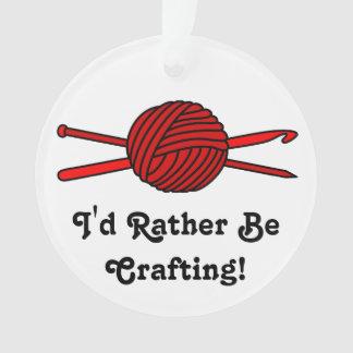 Red Ball of Yarn (Knit & Crochet) Ornament