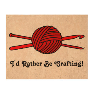 Red Ball of Yarn (Knit & Crochet) Photo Cork Paper