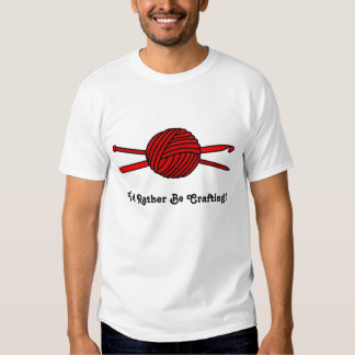 Red Ball of Yarn (Knit & Crochet) Tee Shirt