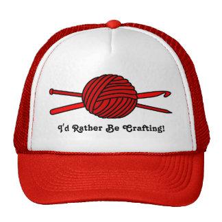 Red Ball of Yarn (Knit & Crochet) Trucker Hat
