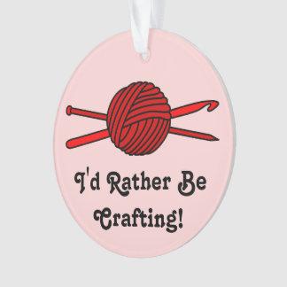 Red Ball of Yarn (Knit & Crochet - Version 2) Ornament