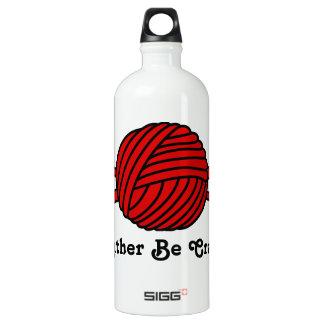 Red Ball of Yarn (Knit & Crochet) Water Bottle