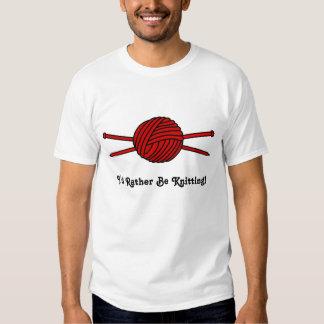 Red Ball of Yarn & Knitting Needles T-shirt