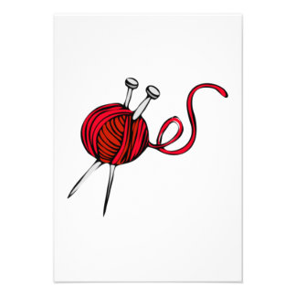 Red Ball of Yarn Personalized Announcements
