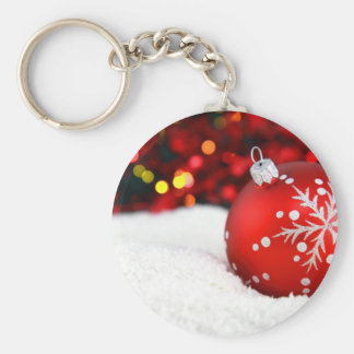 Red Ball Ornament Keychains