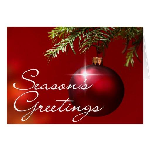 Red Ball Ornament • Season's Greetings Card