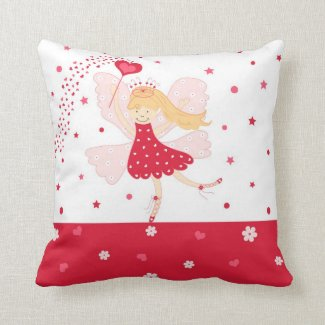 Red Ballerina Fairy Pillow