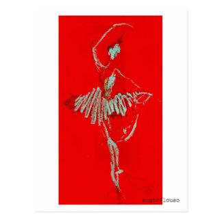 red ballet postcard