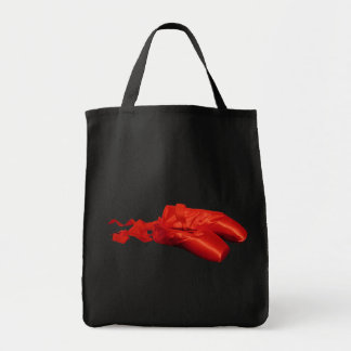Red Ballet Shoes Grocery Tote Bag