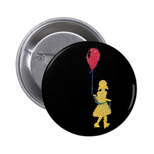 red balloon. 2 inch round button