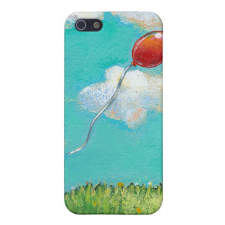 Red balloon blue sky beautiful day fun unique art cover for iPhone SE/5/5s