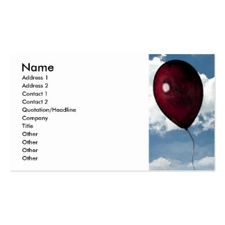 Red Balloon Double-Sided Standard Business Cards (Pack Of 100)