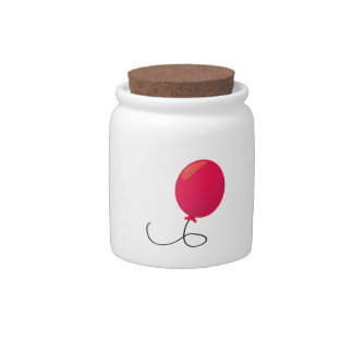 Red Balloon Candy Jars