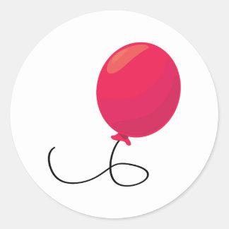 Red Balloon Classic Round Sticker