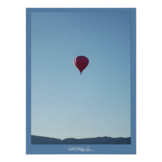 Red Balloon in Colorado Skies Poster