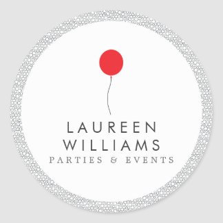 Red Balloon Logo Personalized Round Stickers