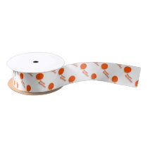 Red Balloon-Patterned Satin Ribbon