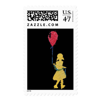 red balloon. postage