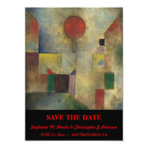 """Red Balloon"" Save the Date Card"