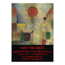 """Red Balloon"" Save the Date w/ Website Magnetic Card"