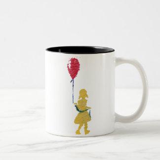 red balloon. Two-Tone coffee mug
