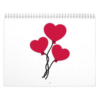 Red balloons calendar