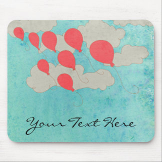 Red Balloons Mouse Pad