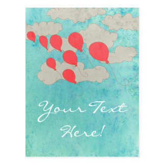 Red Balloons Postcard