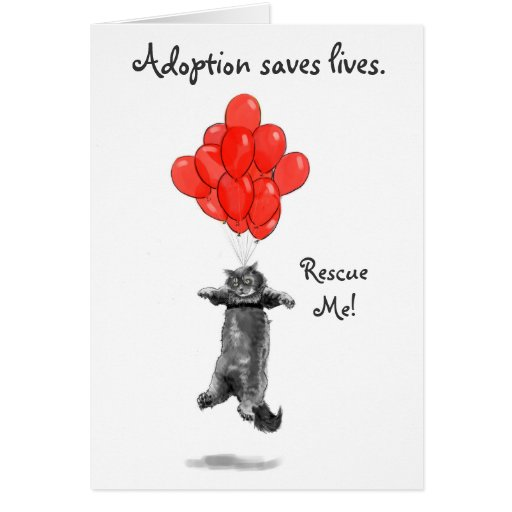 Red Balloons Rescue Me Notecards Cards