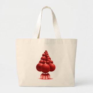 Red balls large tote bag