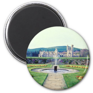Red Balmoral gardens, Scotland flowers 2 Inch Round Magnet